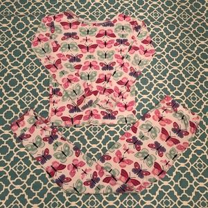Carter's Butterfly Girl Pajamas Size 8